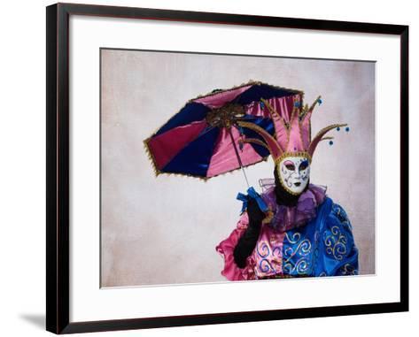 Elaborate Costume for Carnival, Venice, Italy-Darrell Gulin-Framed Art Print