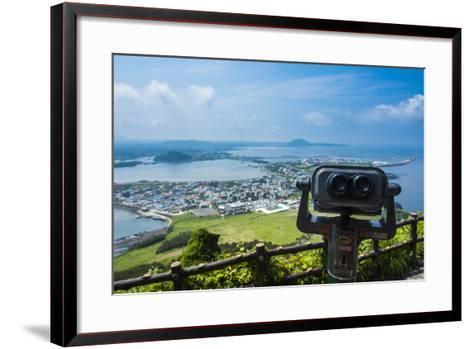 Binoculars on Top of the Ilchulbong Tuff Cone, Sunrise Peak, Jejudo Island, South Korea-Michael Runkel-Framed Art Print
