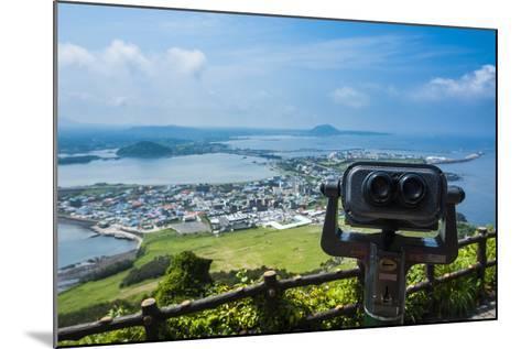 Binoculars on Top of the Ilchulbong Tuff Cone, Sunrise Peak, Jejudo Island, South Korea-Michael Runkel-Mounted Photographic Print