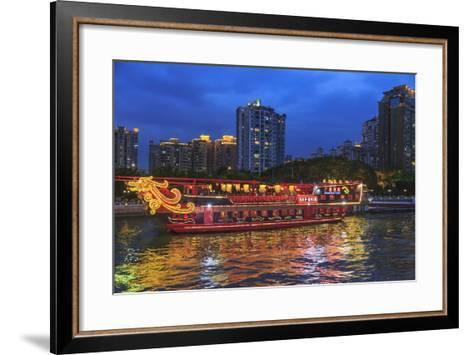 Dinner Cruise Along Pearl River Enjoying Guangzhou Skyline, China-Stuart Westmorland-Framed Art Print