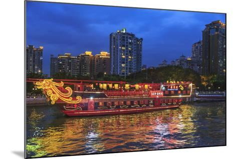 Dinner Cruise Along Pearl River Enjoying Guangzhou Skyline, China-Stuart Westmorland-Mounted Photographic Print