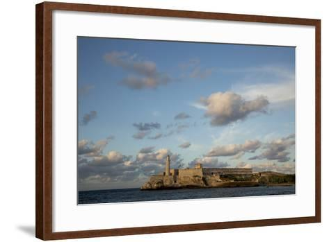 Cuba, Havana, El Morro Fortress and Sea, Viewed from Malecon-John and Lisa Merrill-Framed Art Print