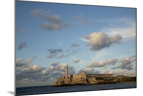 Cuba, Havana, El Morro Fortress and Sea, Viewed from Malecon-John and Lisa Merrill-Mounted Photographic Print