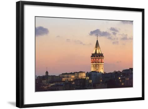 Galata Tower. Istanbul. Turkey-Tom Norring-Framed Art Print