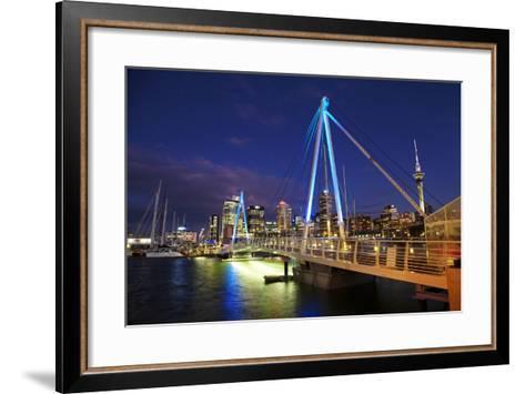 Auckland Waterfront, North Island, New Zealand-David Wall-Framed Art Print