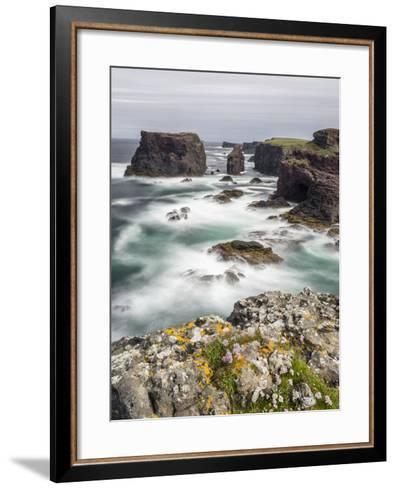 Famous Cliffs and Sea Stacks of Esha Ness, Shetland Islands-Martin Zwick-Framed Art Print