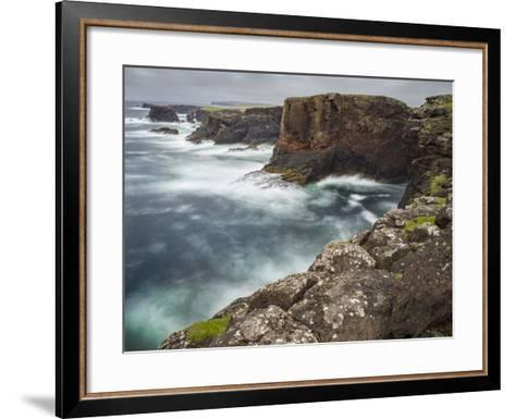 Famous Cliffs and Sea Stacks of Esha Ness, Shetland Islands-Martin Zwick-Framed Art Print
