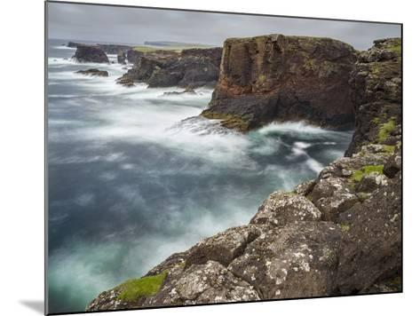 Famous Cliffs and Sea Stacks of Esha Ness, Shetland Islands-Martin Zwick-Mounted Photographic Print