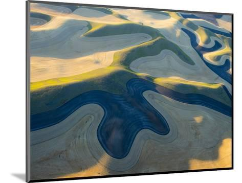 Aerial Photography at Harvest Time in the Palouse Region of Eastern Washington-Julie Eggers-Mounted Photographic Print