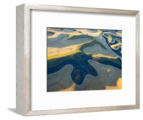 Aerial Photography at Harvest Time in the Palouse Region of Eastern Washington-Julie Eggers-Framed Art Print