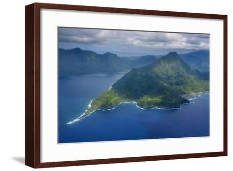 Aerial of the Island of Upolu, Samoa, South Pacific-Michael Runkel-Framed Art Print