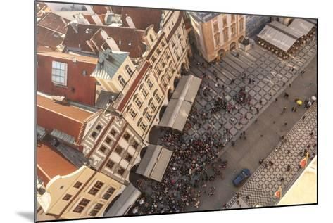 Aerial of Old Town Square. Prague, Czech Republic-Tom Norring-Mounted Photographic Print
