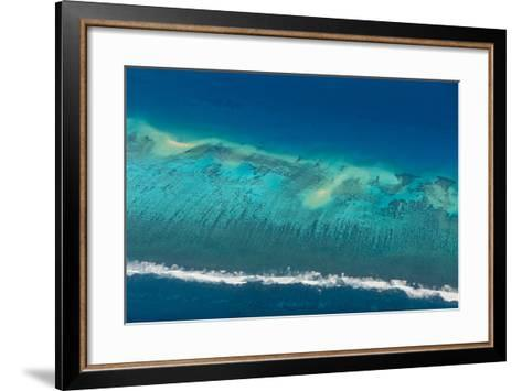 Aerial of Tonga, South Pacific-Michael Runkel-Framed Art Print