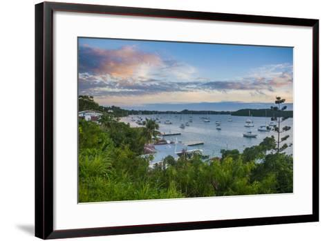 The Bay of Neiafu after Sunset, Vava'U Islands, Tonga, South Pacific-Michael Runkel-Framed Art Print