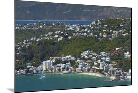 Wellington Harbour and Oriental Bay, Wellington, North Island, New Zealand-David Wall-Mounted Photographic Print
