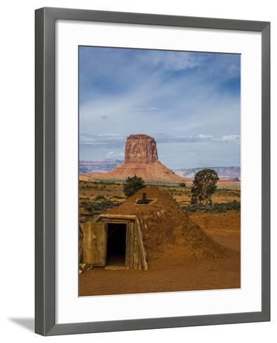 Arizona, Navajo Reservation, Monument Valley, Native American Hogan'S-Jerry Ginsberg-Framed Art Print