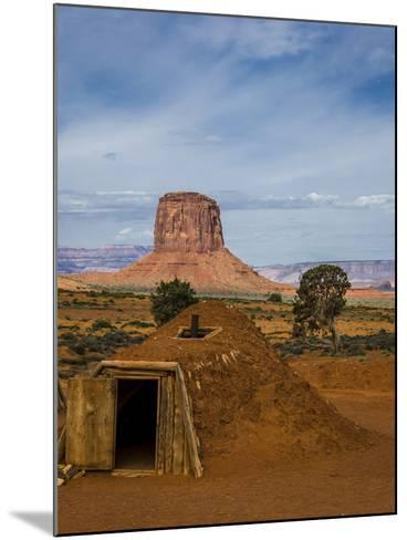 Arizona, Navajo Reservation, Monument Valley, Native American Hogan'S-Jerry Ginsberg-Mounted Photographic Print