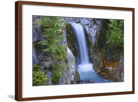 Washington, Mount Rainier National Park. Christine Falls Scenic-Jaynes Gallery-Framed Art Print