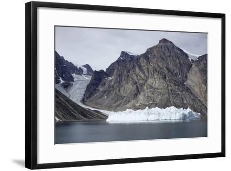 Greenland, Bjoren Oer, Receding Glacier-Aliscia Young-Framed Art Print