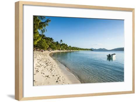 White Sand Beach, Oarsman Bay, Yasawa, Fiji, South Pacific-Michael Runkel-Framed Art Print