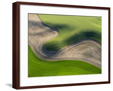 Washington, Palouse, Whitman County. Aerial of Palouse Region-Julie Eggers-Framed Art Print