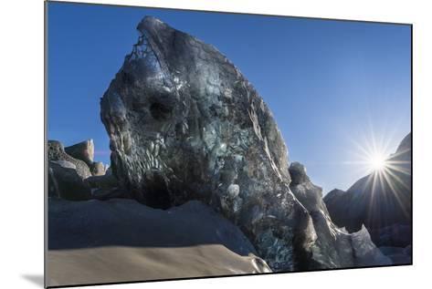 Icefall, Glacier Breidamerkurjokull in Vatnajokull During Winter-Martin Zwick-Mounted Photographic Print