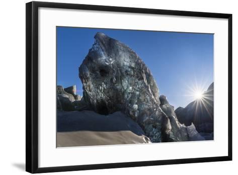 Icefall, Glacier Breidamerkurjokull in Vatnajokull During Winter-Martin Zwick-Framed Art Print
