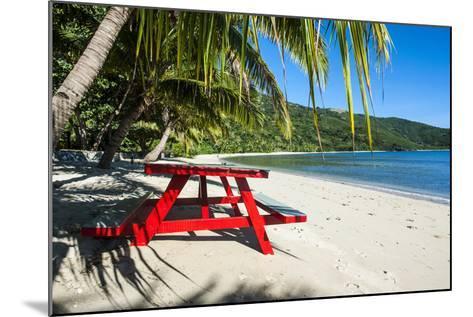 White Sandy Beach, Naviti, Yasawa, Fiji, South Pacific-Michael Runkel-Mounted Photographic Print