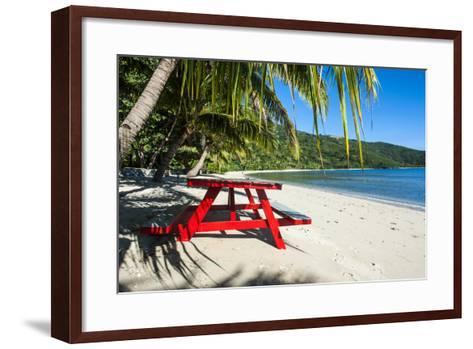 White Sandy Beach, Naviti, Yasawa, Fiji, South Pacific-Michael Runkel-Framed Art Print