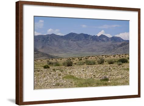 Mongolia, Khovd Province, Altan Hokhii, Mountains, High Desert Valley, Landscape and Terrain-Emily Wilson-Framed Art Print