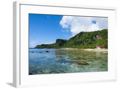 Bay and Turquoise Water in Tau Island, Manu'A, American Samoa, South Pacific-Michael Runkel-Framed Art Print