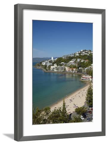 Oriental Bay, Wellington, North Island, New Zealand-David Wall-Framed Art Print