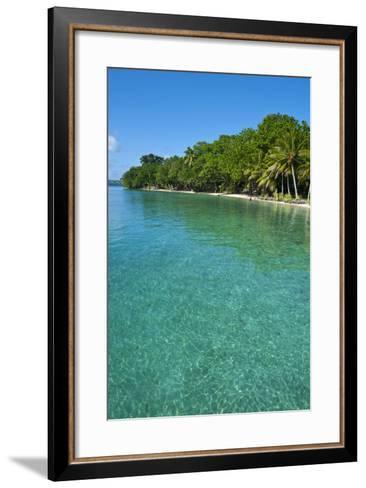 Beach at the Aore Islet before the Island of Espiritu Santo, Vanuatu, South Pacific-Michael Runkel-Framed Art Print