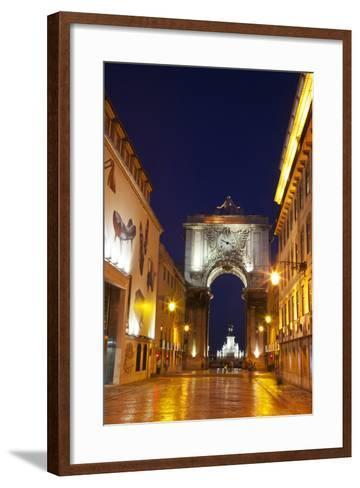 Lisbon, Rua Augusta-Terry Eggers-Framed Art Print