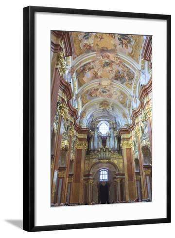 Organ. Church of the Abbey. Melk Abbey. Melk. Austria-Tom Norring-Framed Art Print