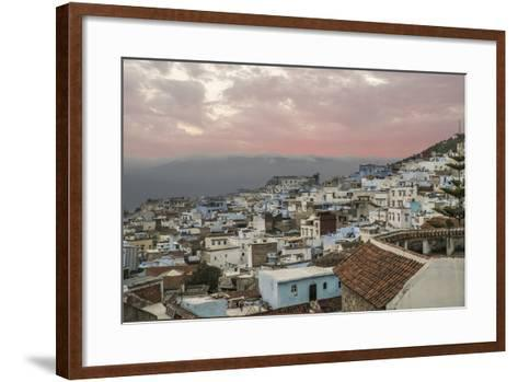 Morocco, Chaouen. Range of the Rif Mountains in the Background-Emily Wilson-Framed Art Print