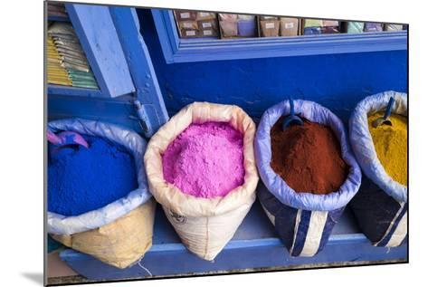 Morocco, Chaouen. Paint Pigments in Burlap Sacks-Emily Wilson-Mounted Photographic Print