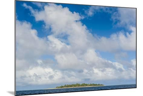Little Island with a White Sand Beach in Ha'Apai Islands, Tonga, South Pacific-Michael Runkel-Mounted Photographic Print