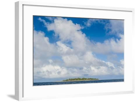 Little Island with a White Sand Beach in Ha'Apai Islands, Tonga, South Pacific-Michael Runkel-Framed Art Print