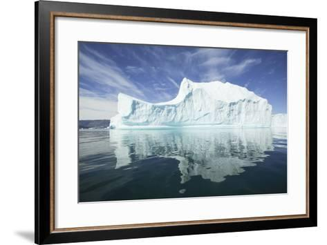 Greenland, Scoresby Sund, Red Island, Large Iceberg in a Small Ripple of Water-Aliscia Young-Framed Art Print