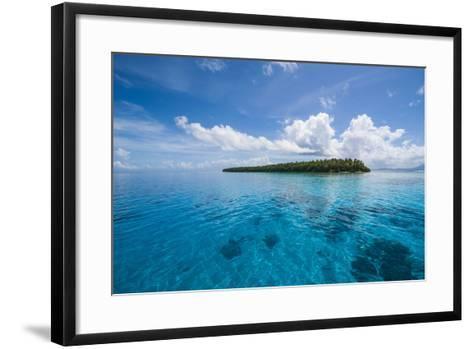 Little Islet in the Ant Atoll, Pohnpei, Micronesia-Michael Runkel-Framed Art Print