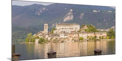 Panorama. Isola San Giulio. San Giulio Island. Lake Orta. Piedmont, Italy-Tom Norring-Mounted Photographic Print