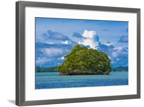 Little Rock Islet in the Famous Rock Islands, Palau, Central Pacific-Michael Runkel-Framed Art Print