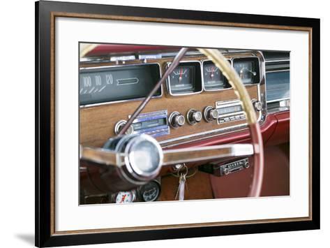 Interior of an Old Classic Car, Tucumcari, New Mexico, USA. Route 66-Julien McRoberts-Framed Art Print