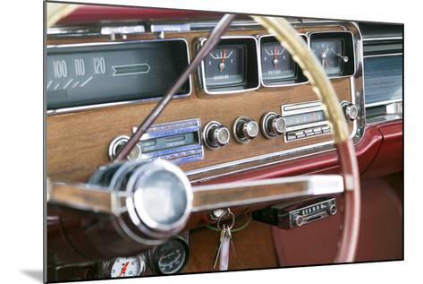 Interior of an Old Classic Car, Tucumcari, New Mexico, USA. Route 66-Julien McRoberts-Mounted Photographic Print