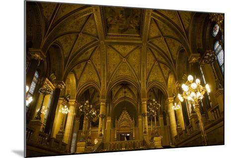 Interior of Parliament Building. Budapest. Hungary-Tom Norring-Mounted Photographic Print