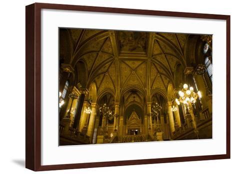 Interior of Parliament Building. Budapest. Hungary-Tom Norring-Framed Art Print