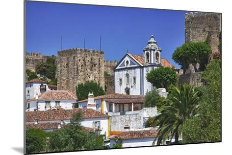 Portugal, Obidos, Elevated View of the Town with the Red Roofs-Terry Eggers-Mounted Photographic Print