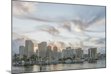 Hawaii, Honolulu, Waikiki Skyline at Sunrise-Rob Tilley-Mounted Photographic Print