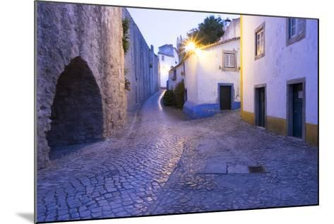 Portugal, Obidos. Leira District. Cobblestone Walkways, at Sunset-Emily Wilson-Mounted Photographic Print